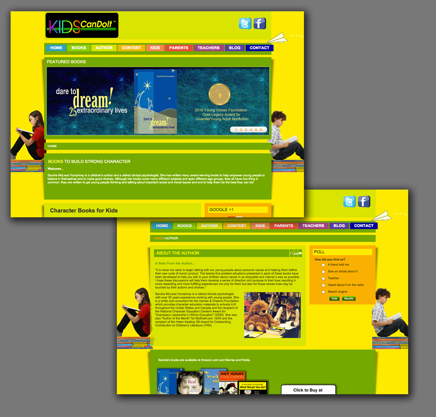 Kids Author Website