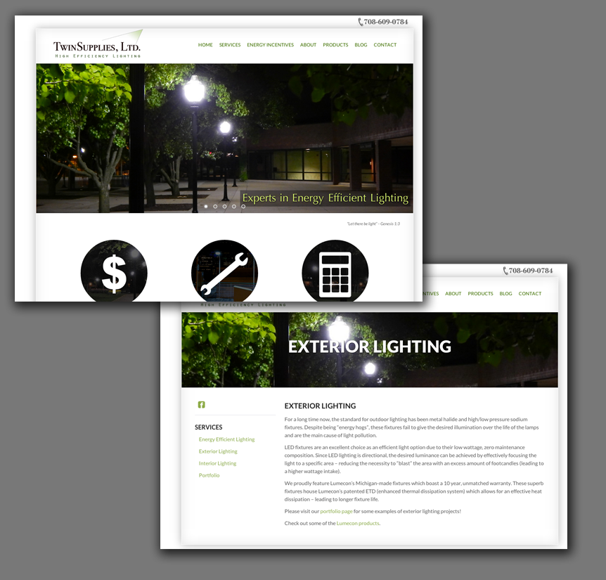 Lighting Company Website