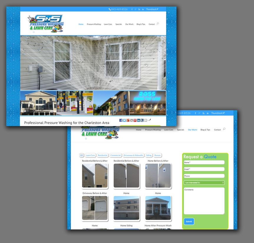Pressure Washing Website
