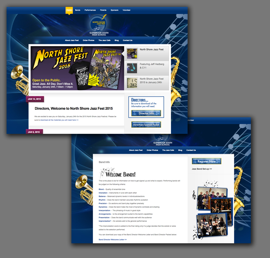 School Band Website