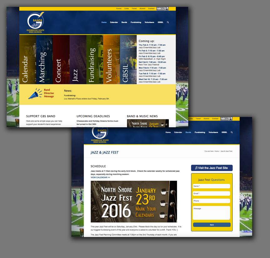 Web Design - Glenview High School Band