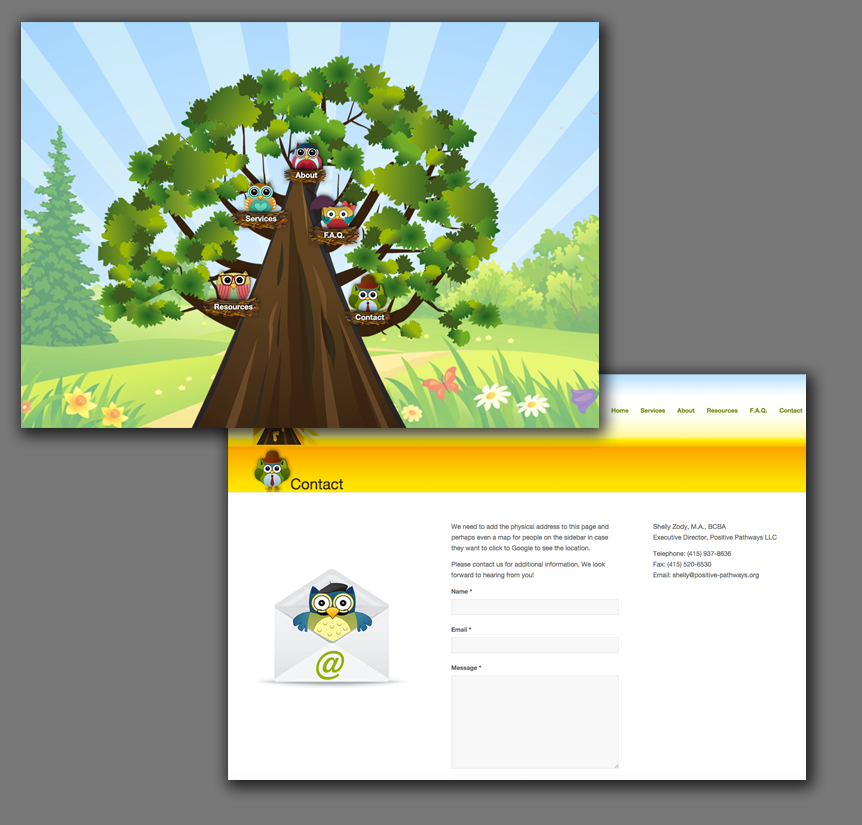 Web Design for Children's Clinic